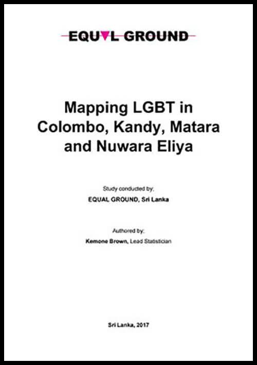 Mapping LGBT in Colombo, Kandy, Matara and Nuwara Eliya