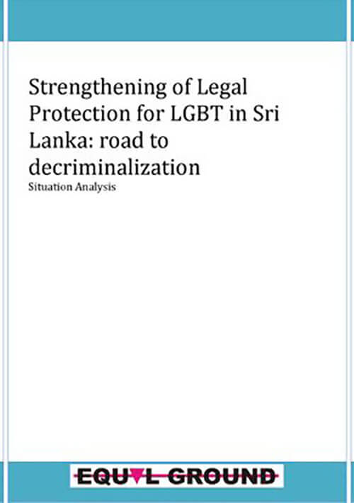 Strengthening of Legal Protection for LGBT in Sri Lanka: road to decriminalization